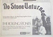 ROLLING STONES No Stone Unturned 1973 UK  Press ADVERT 12x8""