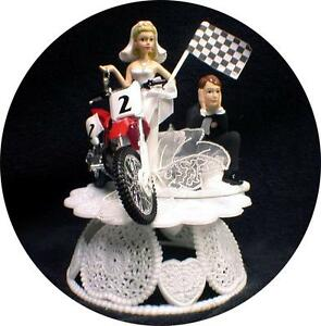 wedding cake toppers motorcycle uk road dirt bike motorcycle wedding cake topper honda 26546