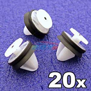 20x-Peugeot-Door-Card-Trim-Panel-amp-Pillar-Clips-with-rubber-seal-6991-Y8