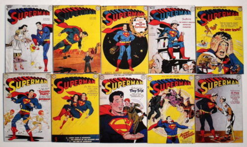"10 SUPERMAN COMICS 2"" x 3"" COVER MAGNETS Superman #5160"