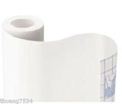 WHITE Color Vinyl Contact Paper Shelf Drawer Liner Peel & Stick 4.5 feet