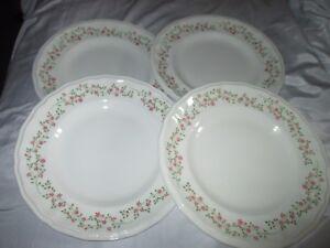 Image is loading 4-Unicorn-Tableware-Staffordshire-Forget-Me-Not-Pink- & 4 Unicorn Tableware Staffordshire Forget Me Not Pink Floral 25cm ...