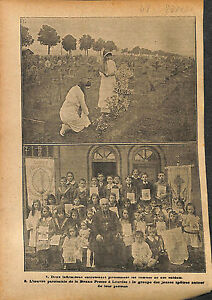 Infirmieres-Tombes-Poilus-Oeuvre-Paroissiale-Cure-Lourdes-WWI-1916-ILLUSTRATION