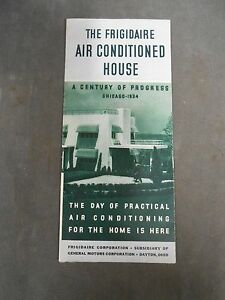 1933 World's Fair Century of Progress Frigidaire Air Conditioned House Brochure