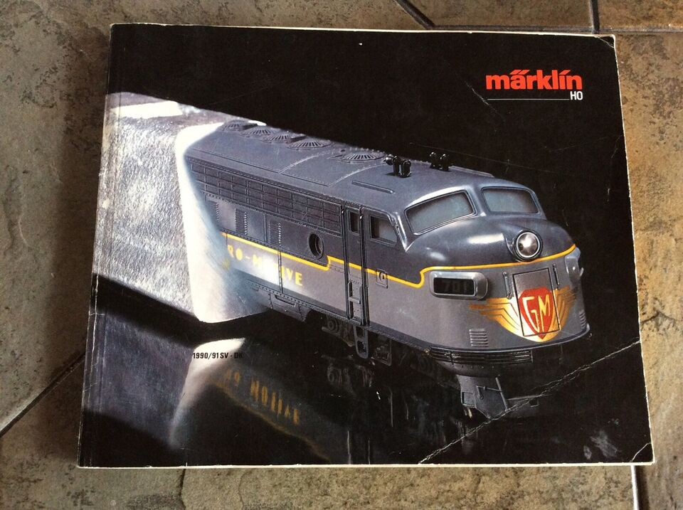 Andre samleobjekter, Marklin HO katalog 1990/91 DK-SV