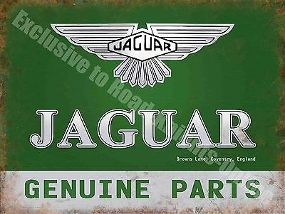 185 Vintage Garage Car Advertising Jaguar Genuine Parts Large Metal Tin Sign