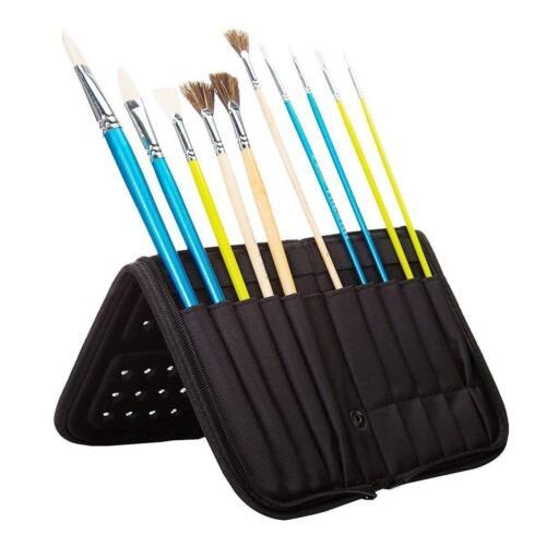 MEEDEN 11 X 10.5 Inch Mesh Paint Brushes Case Zippered Brush Holder,Short Handle