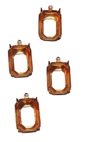 Brass Settings  4 Prong 18 MM
