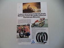 advertising Pubblicità 1980 PNEUMATICI METZELER