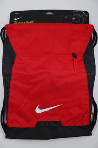 6d8f47ed38e6 NIKE ALPHA ADAPT GYMSACK RED BLACK WHITE DRAWSTRING BAG BACKPACK GYM ...