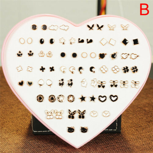36Pairs Women Girls Crystal Diamante Flower Ear Studs Earrings Jewelry Set Gifts