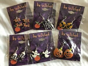 Bewitched-HALLOWEEN-Earrings-trick-or-treat-Jewelry-Collection-6-Sets-Earrings