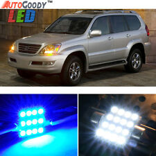 19 x Premium Blue LED Lights Interior Package Kit for 03-09 Lexus GX470 + Tool