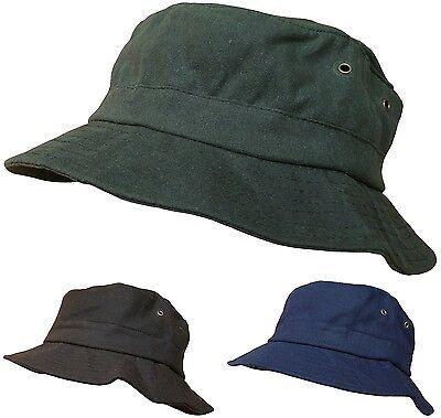 Mens or Womens Showerproof Waxed Bucket Hat