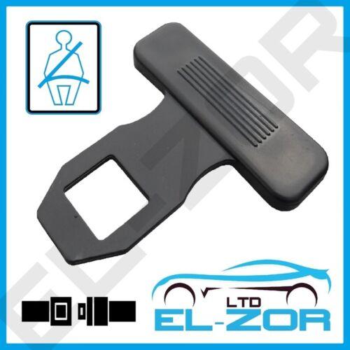 2 Car Seat Belt Blank Warning Alarm Buckle Key Clip Stop Buzzer Beeper Canceller
