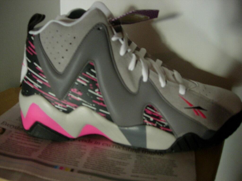 Reebok Kamikaze II, Carbon Shark Grey Pink, Men Us 10.5, Breast Cancer Awareness