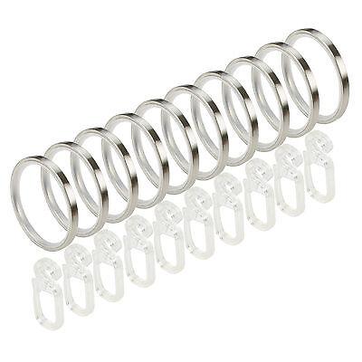 10 St. Stilring Mit Gleiteinlage Faltenhaken Stil Ring Vitrage Gardinenstange