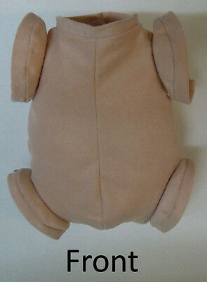 Doe Suede Ethnic Body for 17-18 Dolls 7//8 Jointed Arms Full Unjointed Legs#505se