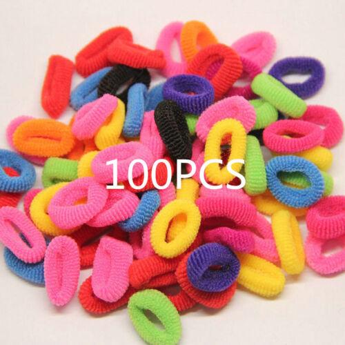400PCS//Pack Elastic Women Girl Hair Band Ties Rope Ring Hairband Ponytail Holder
