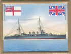 Cruiser croiseur Kreuzer Berwick Royal Navy UK Battleship FLAG CARD 30s