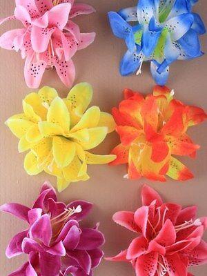 Haarblume Haarblüte Blüte Haarspange Stoffblume Hawaii Hibiskus Orchidee bunt