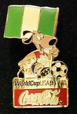 Coca Cola World Cup Soccer USA 1994 Nigeria Lapel Pin Tac Trading Pins