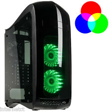 KOLINK PUNISHER RGB MIDI TOWER BLACK ATX GAMING CASE - LED COOLING FANS INCLUDED