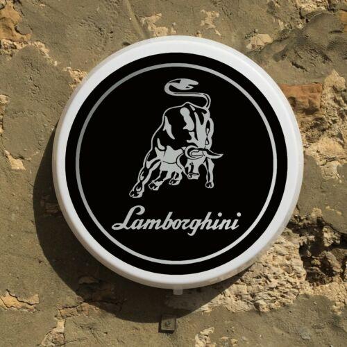 LAMBORGHINI 1974 BADGE LED ILLUMINATED WALL LIGHT BOX SIGN GARAGE GAS /& OIL