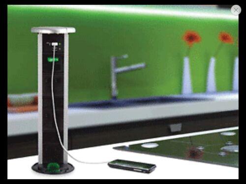 Plan de travail cuisine pop up prise powerpod avec 2 x usb/'