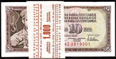 Yugoslavia 10 Dinara 1994  P-138a  UNC x 3