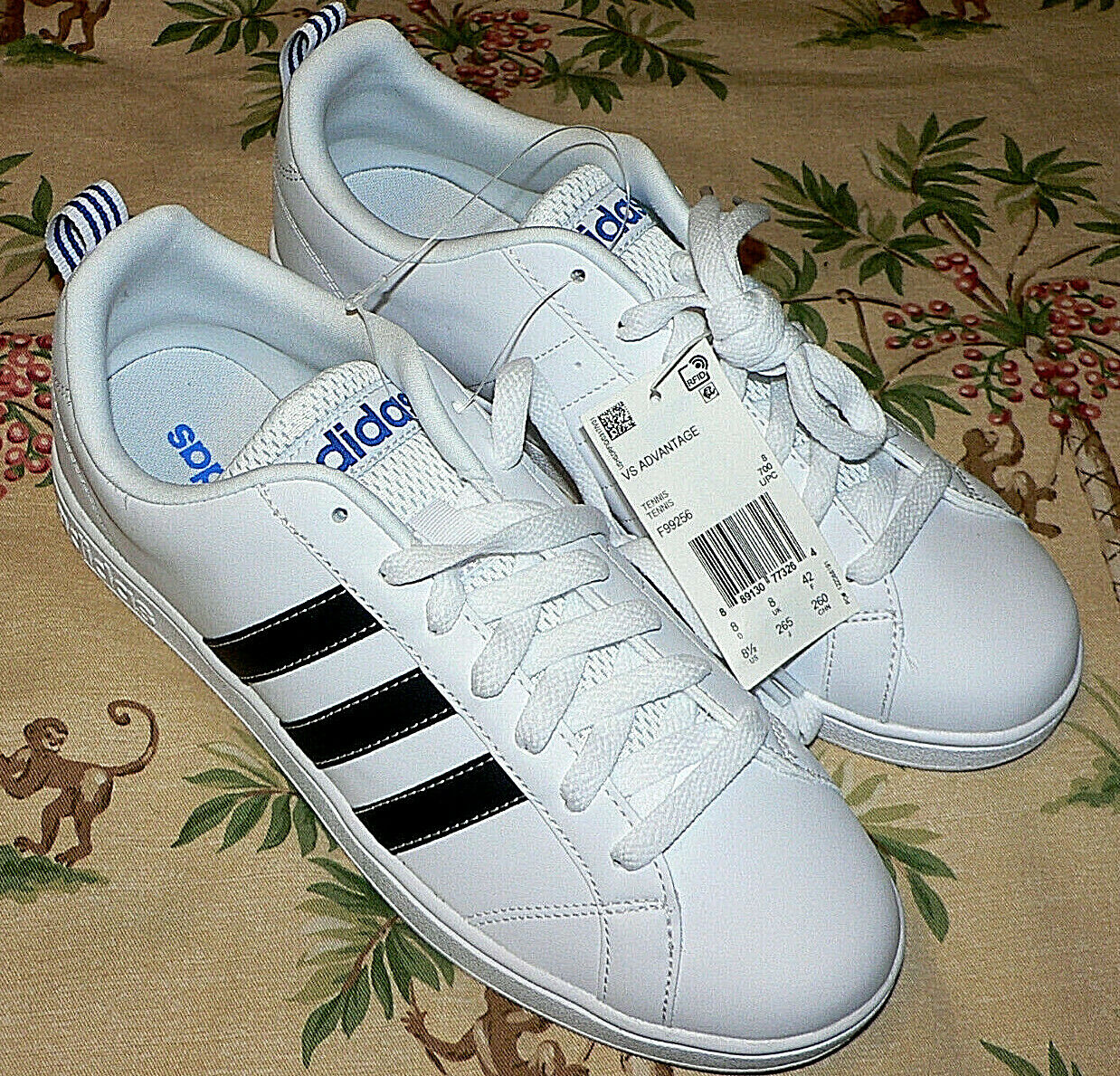 38b91fb2f086b Adidas VS Advantage Men s Size 8 1 2 Casual Tennis shoes Sneakers F99256  White