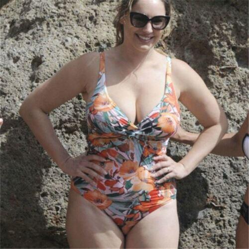 Le donne Plus Size Costume Da Bagno Imbottito Push-Up Monokini Costume da bagno Costumi da bagno F002