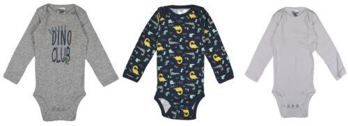 3er Pack Baby Body Jungen Baumwolle Langarm Blau Weiß 62//68 74//80 86//92 98//104