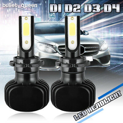 2x D1S D2S D3S D4S D1R D2R D3R D4R LED Headlight Bulbs Kit 1000W 150000LM 6000K