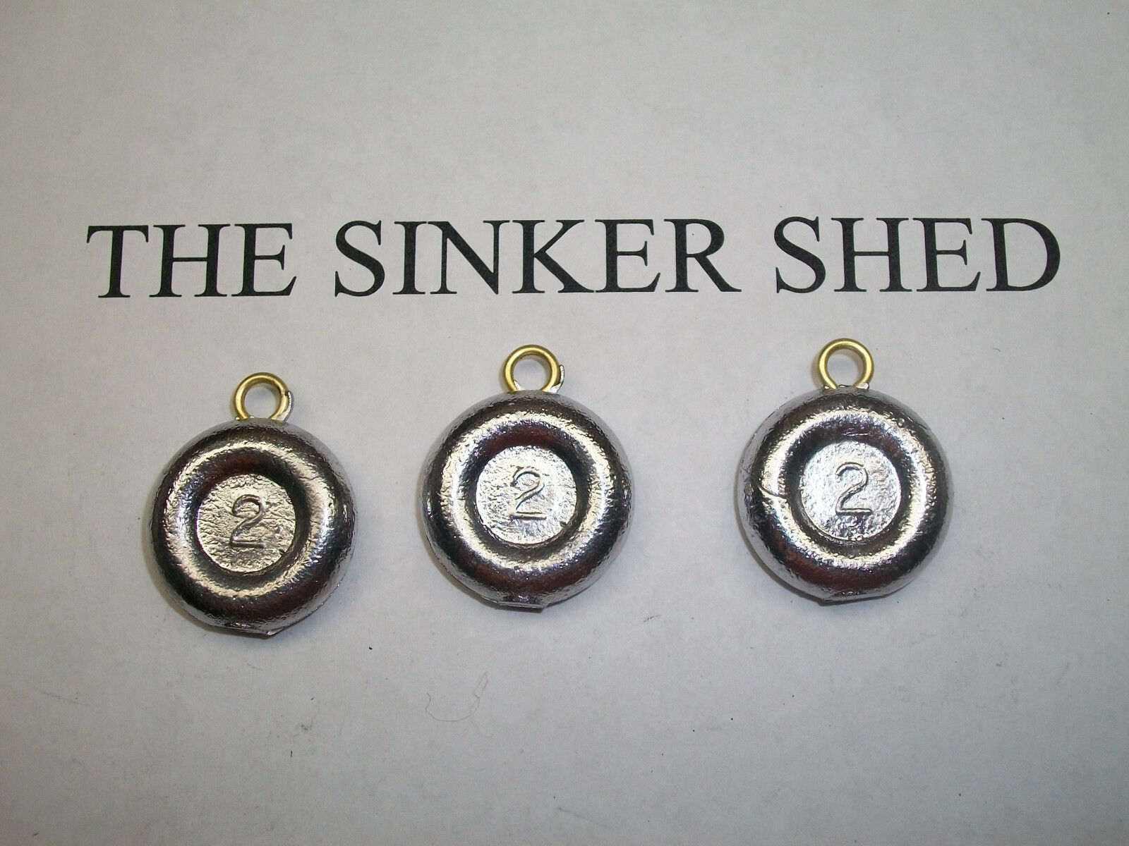 2 oz river   surf coin sinkers   - quantity of 6 12 25 50 100 200 FREE SHIPPING  sale online discount
