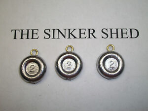 Round River Coin Sinkers Choose Weight 1oz-10oz