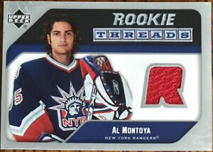 2005-06-Upper-Deck-Rookie-Threads-Al-Montoya-RT-MO-New-York-Rangers