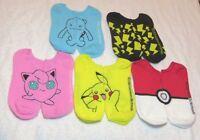 Pokemon/pokeball & Friends Ankle/ped Socks Set Of (5) Pairs