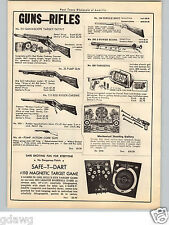 1951 PAPER AD Daisy Red Ryder Carbine Scope BB Gun Air Rifle Power Scope