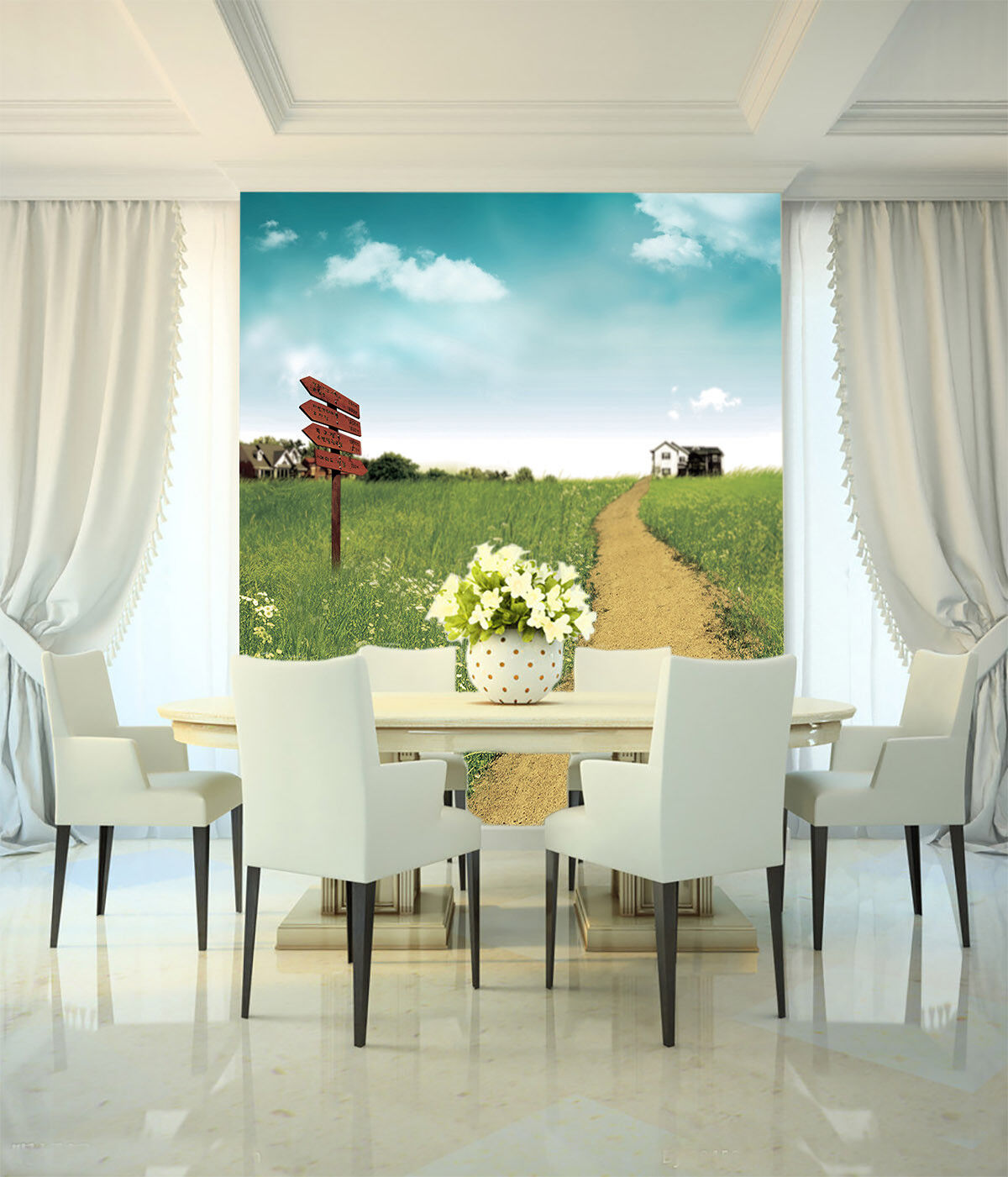3D Flowers Pasture 52 Wall Paper Wall Print Decal Wall Deco Indoor Mural Summer