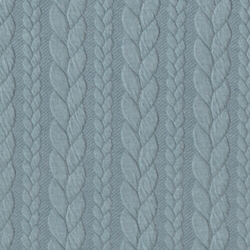 Cable de punto Jersey-Estocolmo Azul 630-Sudadera Confección Tejido Elástico