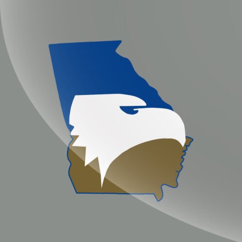 Choose A Size Georgia Southern GA State Pride Decal Sticker 3 Colors