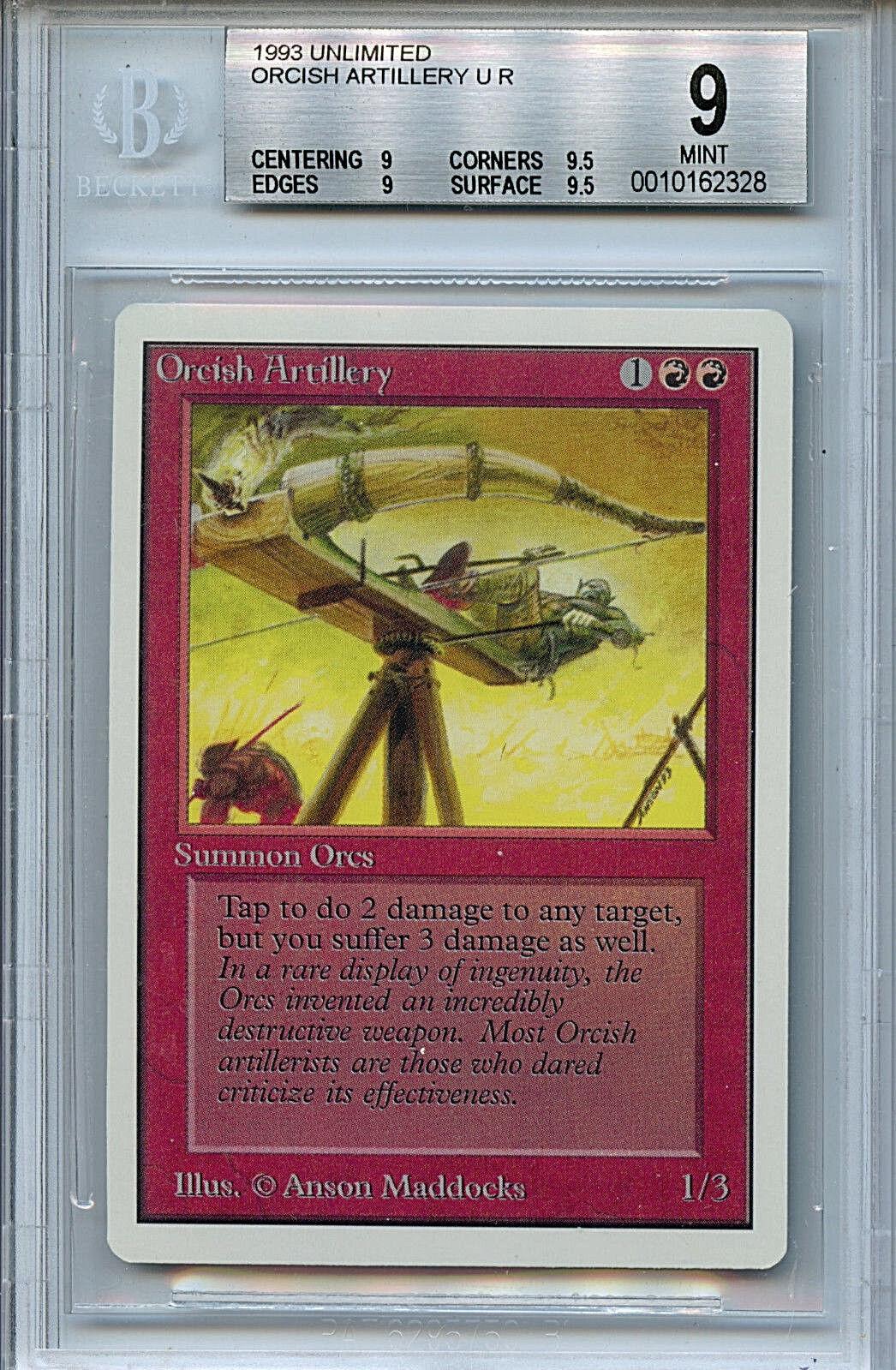 Mtg unbegrenzt die artillerie bgs 9,0 (9) - karte magic the gathering,