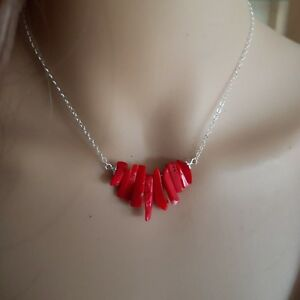 Disenador-Collar-De-Coral-Rojo-Con-Cuentas-Gargantilla-de-plata-esterlina-hecha-a-mano-Joyeria