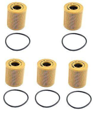 MINI Cooper, S,Turbo 5PCS OEM Oil Filters 07 08 09 11 42 7 557 012
