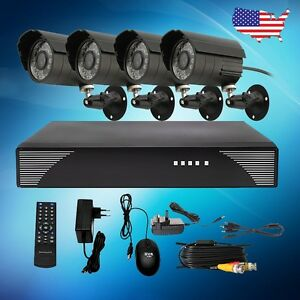 Complete-4-Channel-Outdoor-CCTV-Security-Camera-System-H-264-DVR