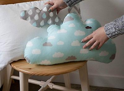 Misty Clouds 100% Cotton Fabric BY HALF YARD 152cm grey mint cloud sky JC4/71+