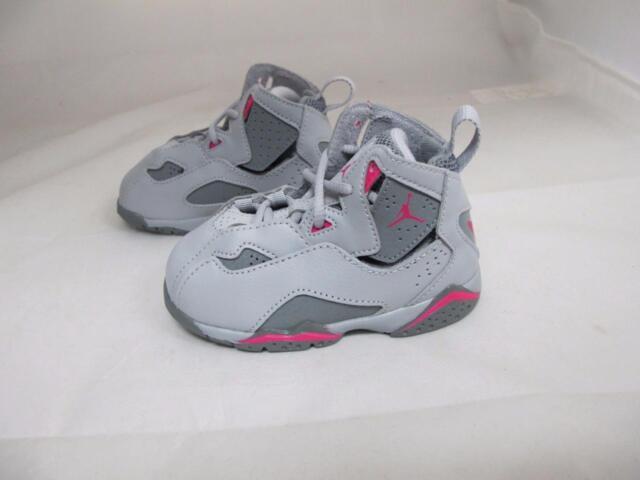 939b2e75df Nike Air Jordan True Flight GT Gray/pink Baby Girls Retro Hi High ...
