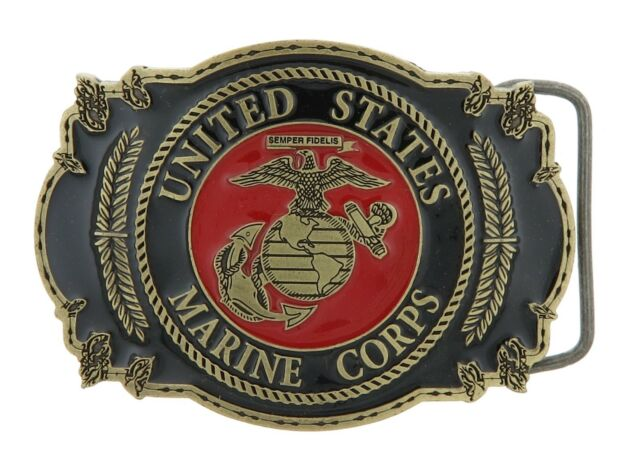 "United States Marine Corps Belt Buckle  3 1//8/""   MADE IN USA"
