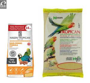 HAGEN TROPICAN HAND FEEDING FORMULA MASH HANDFEEDING BABY BIRDS PARROTS 400G 1KG